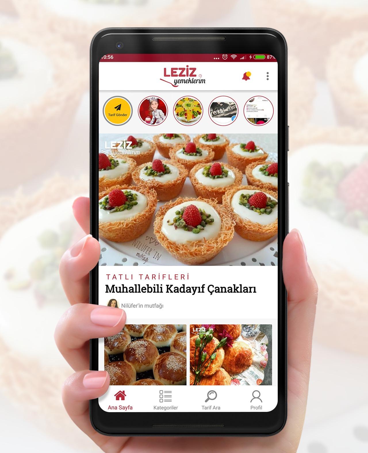 Leziz Yemeklerim Android Uygulaması