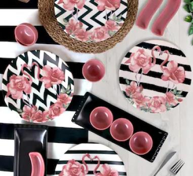Keramika 15 Parça 4 Kişilik Kahvaltı Takımı Flamingo